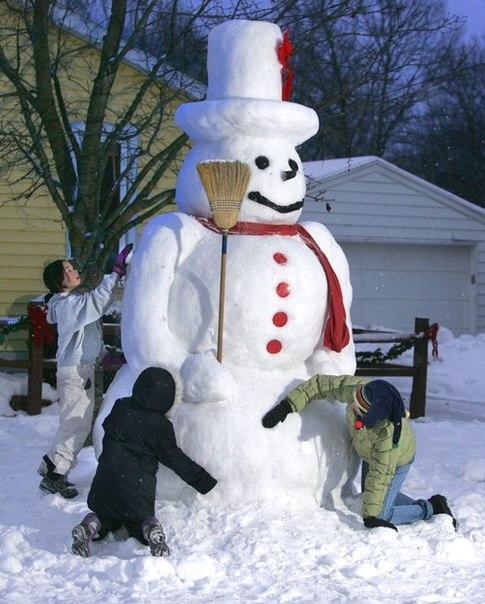 Лепить снеговик своими руками