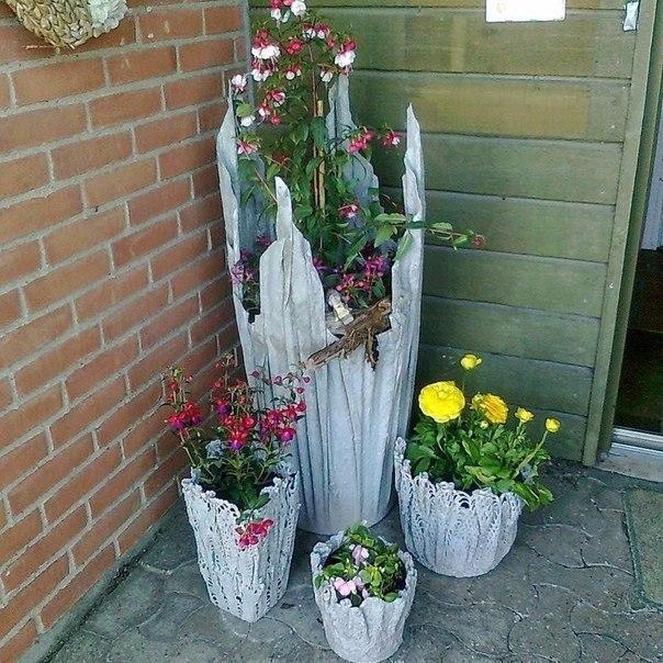 Сделать вазоны для цветов своими руками фото