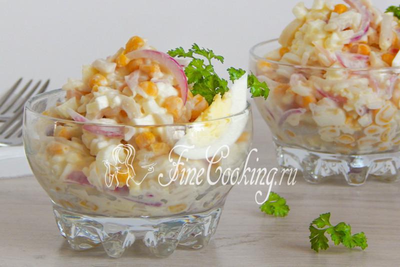 Салаты из кальмаров с рисом рецепты с
