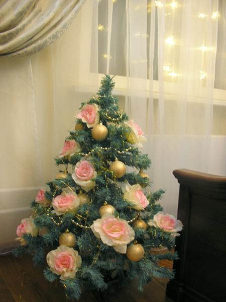Цветы на елку своими руками с фото