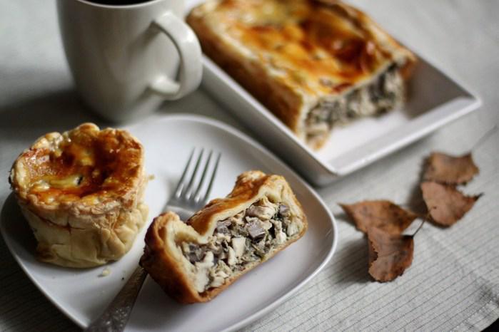 Пирог с курицей и грибами закрытый рецепт