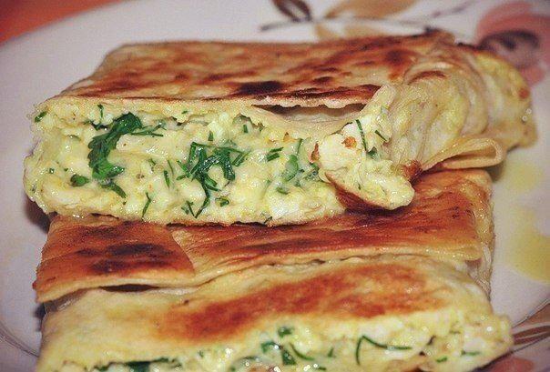 Лаваш с творогом и зеленью в духовке рецепт пошагово