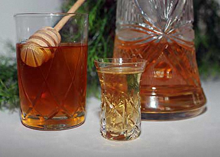 Настойка калины на водке с медом