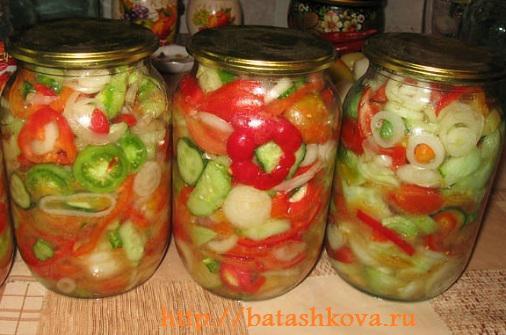 Рецепт донского салата в зиму