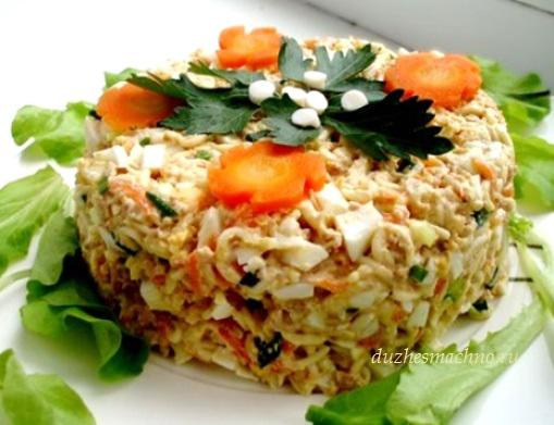 Рецепты салат из печени трески