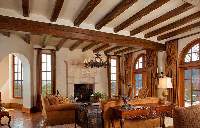 белье могут потолки для деревенского дома фото этой