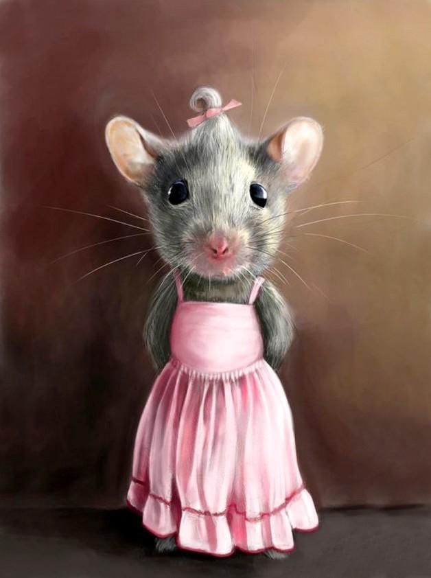 экране милые картинки с крысами на новый год запирают ночь