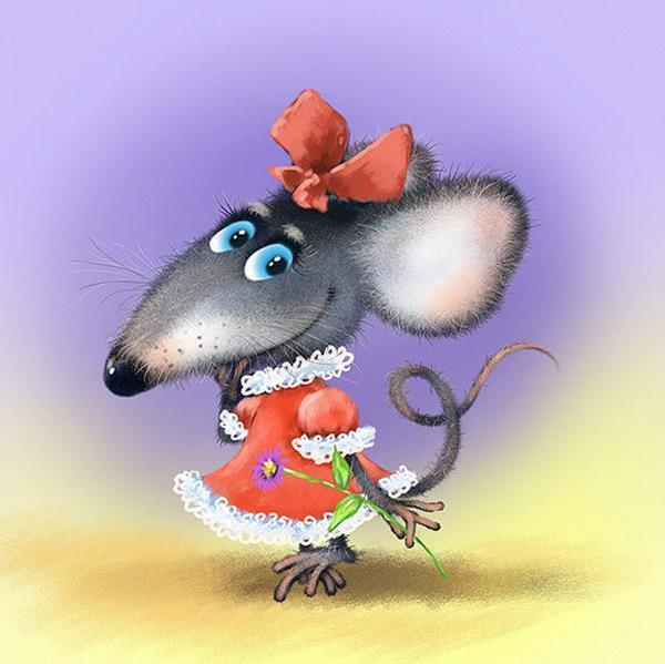 Днем рождения, открытка тебе в день рождения с крысами
